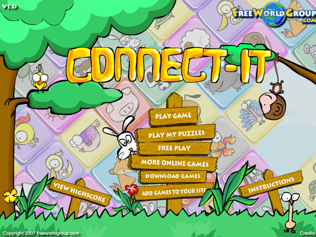 小游戏:动物连连看