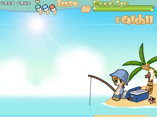 小游戏:美眉钓鱼