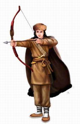 在蒙古被铁木真赏识,跟随神射手哲别学习射箭的功夫
