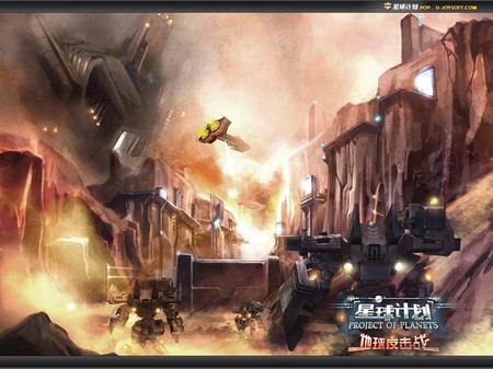 近代战场废墟背景素材