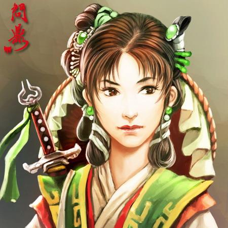 清朝卡通女生头像