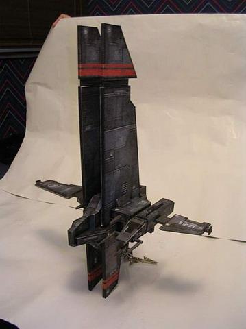 玩家制作的eve飞船纸模型