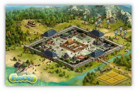 城池营垒9楼_战天下》城池俯瞰图