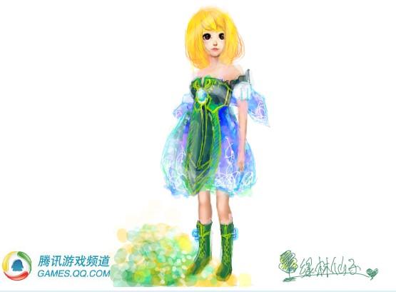 服装设计大赛 小莎莎涂鸦可爱的q版人物
