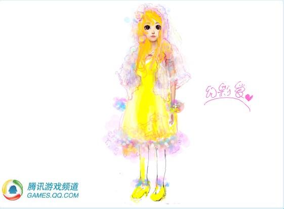 服裝設計大賽 小莎莎涂鴉可愛的q版人物