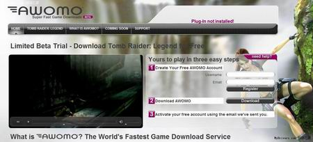 playing download side edge of the 'Tomb Raider: Legend'