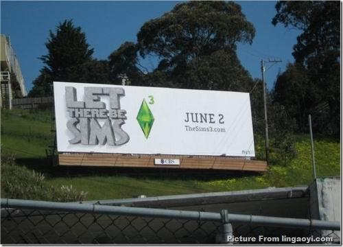 《模拟人生3》在外国的户外广告牌