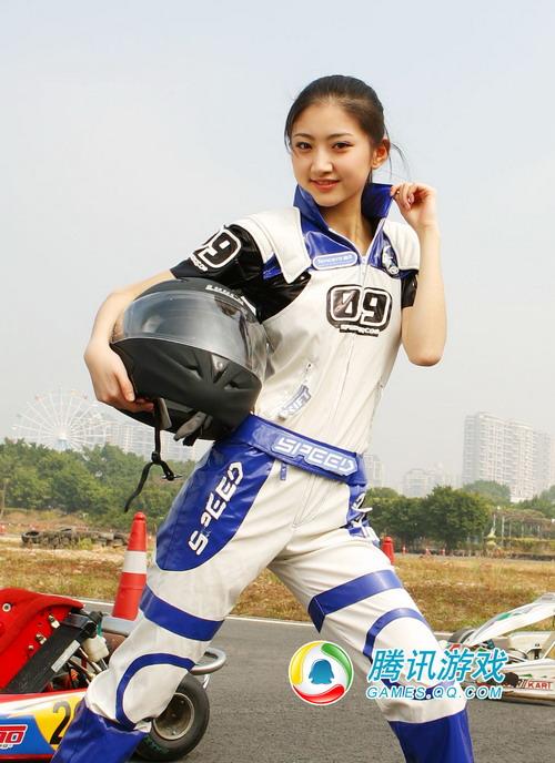 qq飞车 宝贝景甜 酷帅girl高清图片