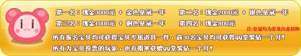 QQ堂糖果宝贝全国争霸赛投票赢取紫钻cnfree.org